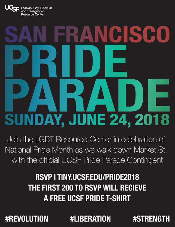 UCSF Contingent Pride Parade Poster