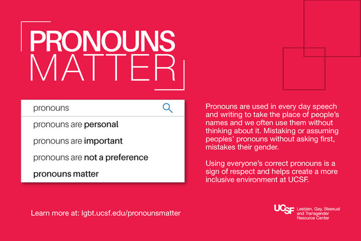 Pronouns are personal. Pronouns are important. Pronouns are not a preference. Pronouns matter.